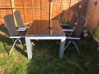 Beautiful garden table and chairs