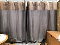"GREY/SILVER DUNELM CURTAINS 90""x90"" (229x229cm)"