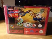 Earthworm Jim 2 Super Nintendo SNES Boxed!