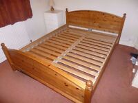 Ikea King Sized Pine Bed Frame