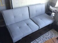 Folding sofa, couch, grey and stylish