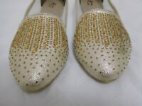 Ladies gold sparkly wedding or party shoes size 39 (UK size 5.5 or 6)