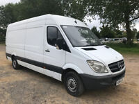 LOW MILEAGE MERCEDES SPRINTER 313 CDI 61 REG EURO5 - LWB - MOT'D - NO VAT!!!!!!!!!!!!!!!!!!!