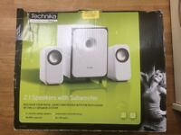 Technika 2.1 Speakers With Subwoofer with Box very good condition