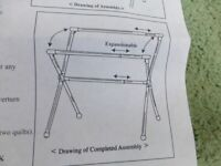 NEW IN BOX EXTENDABLE LENGTH CLOTHES RACK AIRER FOLDS FLAT