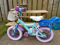 2 Girls 12 inch Bicycles - Frozen and Minnie Mouse