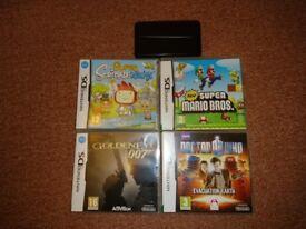 Nintendo DS Games + Carry Case + Stylus