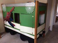 Spider-Man bunk bed decor