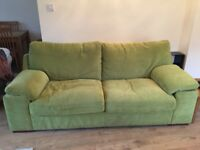 Green 3 seater sofa for sale
