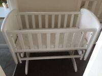 Gliding Crib/cot and Mamas and Papas Matress