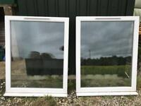 Two double glazed windows