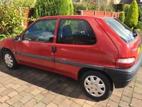 RED CITROEN SAXO 2000, 1.0 Litre: IDEAL FOR FIRST TIME BUYERS