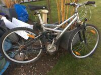 Giant Boulder duo shock men's mountain bike in need of tlc!