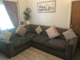 Dfs corner suite and pouffe