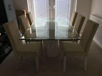 Barker and Stone House Dining Table with Six Chairs