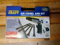 Power Craft air chisel kit bnib *tools, diy, work, Dewalt, Milwaukee, Makita, Bosch*