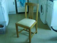 Hardwood dining/kitchen chairs