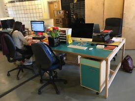 PRICE NEGOTIABLE - Bank of 4 hand built desks