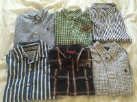 6 shirts, top Brands: Ralph Lauren, Joule , Levi's for 5year old , used but fantastic condition