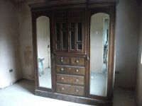 Compendium Circa 1890s Wardrobe drawers hanger Delivery available £150 Bargain