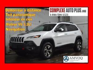 2014 Jeep Cherokee Trailhawk V6 4x4 AWD *Navi/GPS,Cuir,Toit pano