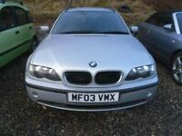 BMW 3 SERIES 320D TOURER ESTATE DIESEL IN SILVER MOT JULY2018 �1500 (silver) 2003