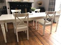 Excellent condition. Extending Wooden IKEA Table & 4 Chairs. Rrp £430.