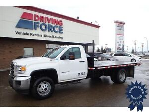 2015 GMC Sierra 3500HD WT Regular Cab 4x4 - 13,863 KMs, 12' Deck