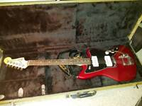 USA fender magificent seven guitar with hardcase