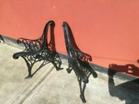 1pr cast iron bench ends
