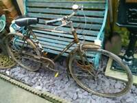 Vintage Raleigh push bike.