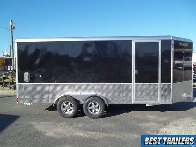 2020 Aluma Ae716tam Cargo Enclosed Aluminum Trailer 7x16 Motorcycle W Extra High