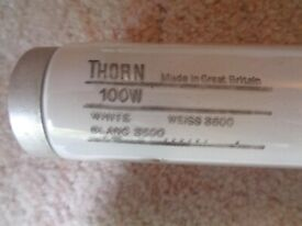 Two 100w Fluorescent Light Tubes (For an 8ft Light fitting) Made by Thorn