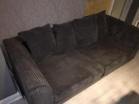 Grey fabric 3 & 2 seater sofas
