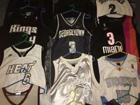 12x NBA Jerseys 100% Authentic LeBron Wade Iverson Anthony Majerle Webber Heat Nuggets Suns