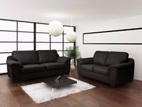 **BRAND NEW** AMY SOFA COLLECTION... CORNER SOFA OR 3+2 SOFA SET IN LEATHER OR FABRIC/LEATHER**