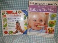 Baby meal planning book