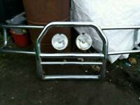 £100 PAJERO BULL BAR WITH SPOT LIGHTS