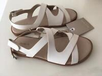Girls Brand New White Zara Sandals Size 28 UK 10