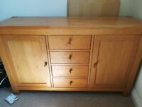 Oak sideboard with drawers