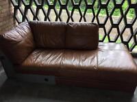 Medium corner leather sofa