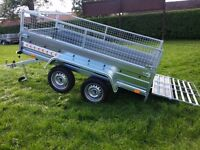 New Trailer twin axle 8.7x4.1 sides - mesh and ramp