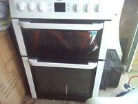 Beko electric cooker, double oven plus halogen hobs x4