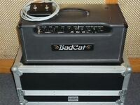 Bad Cat Hot Cat 100R valve head with footswitch and flightcase