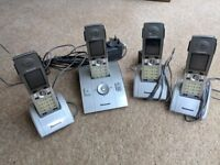 Panasonic KX-TCD820E cordless phone system with 4 handsets