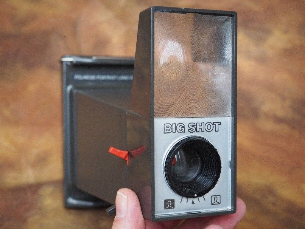 51ce28c1f6a Polaroid Big Shot Portrait Camera (instant film camera as used by Andy  Warhol) with Flash adapter