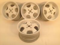 "RH CUP 16"" two 7.5J and two 9J 4x100 DEEP DISH ALLOY WHEELS, ORIGINAL MADE IN GERMANY not keskin, tm"