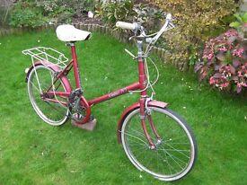 "Adults Halfords Nimbus 508 bike, 20"" wheels, 18"" frame, 3 Sturmmey archer gears"