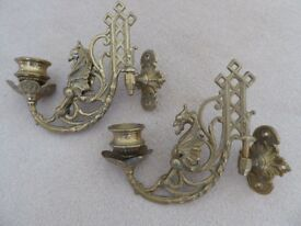 Brass Candle Wall Holders/Sconces
