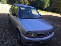 Nissan Micra silver 2001 1.0S 3 door